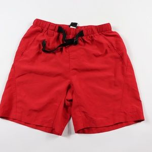 The North Face Mens Small Lined Hiking Shorts Red